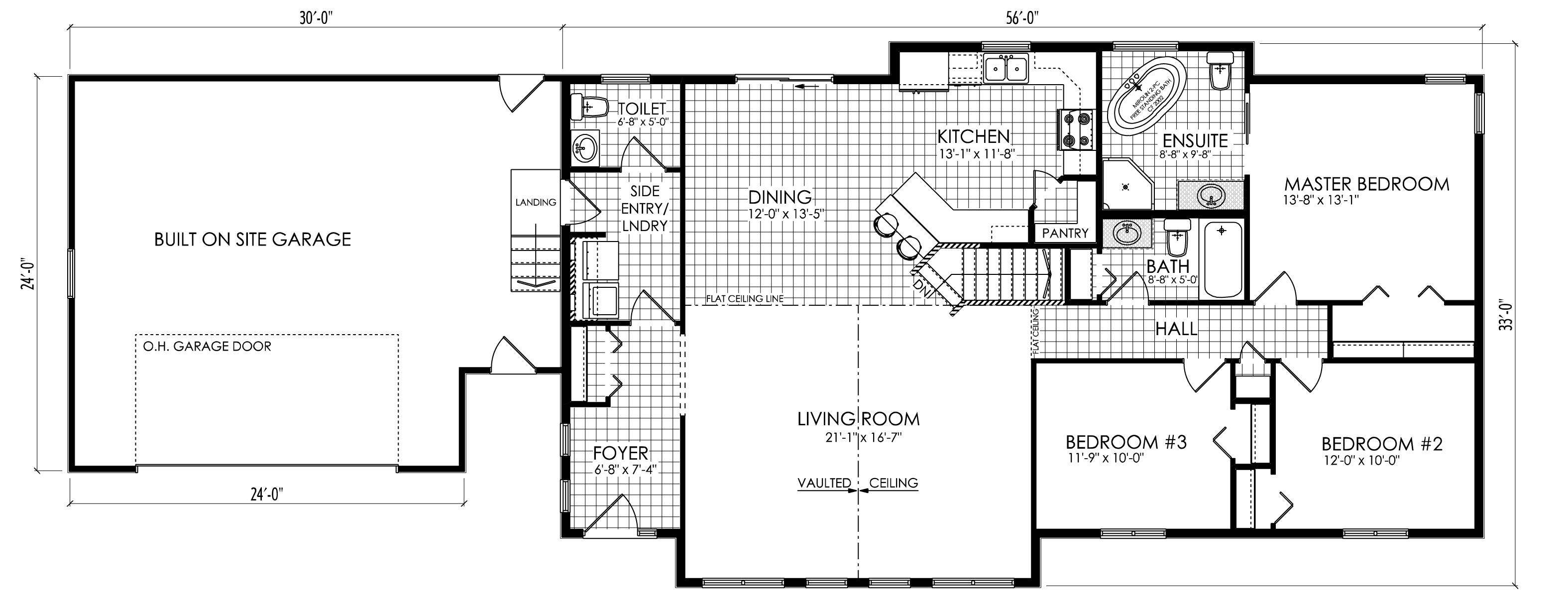 CATALINA with Garage_Floorplan