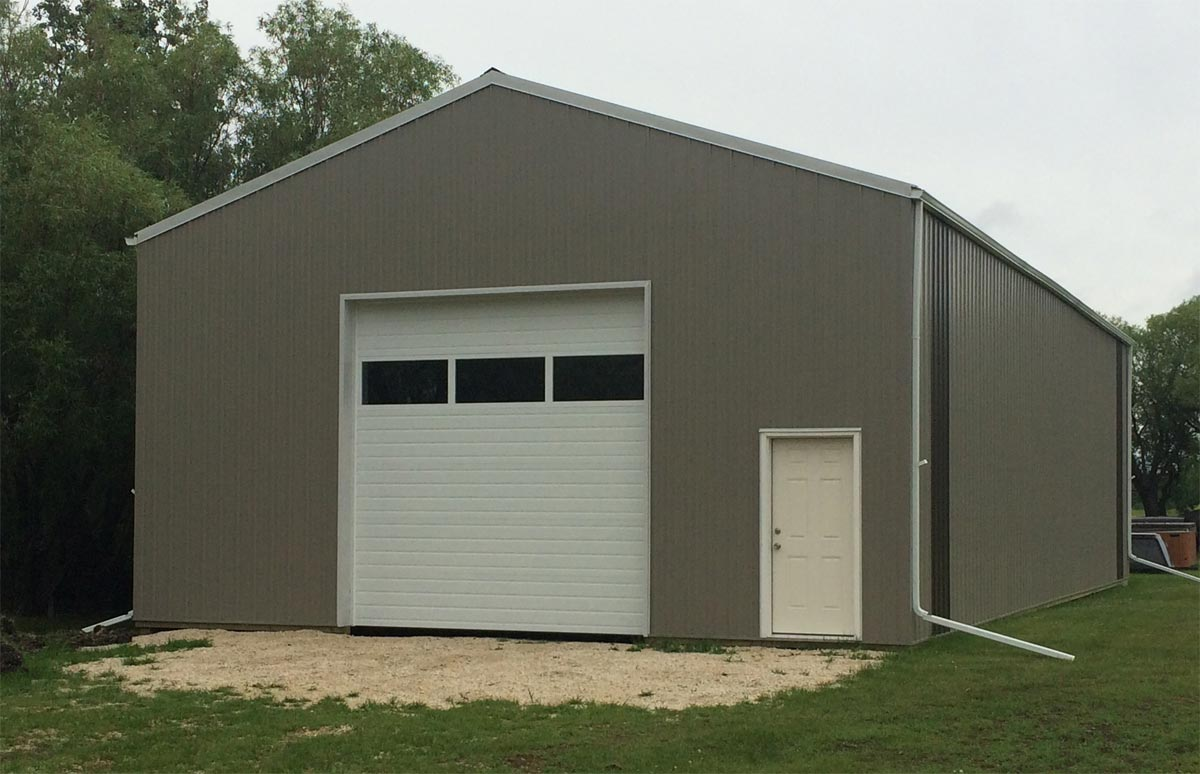 Pole barns ag buildings for Garage roofing options